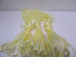 3mm Bundle Light Yellow x 10 metres Polyester ribbon double sided Clearance